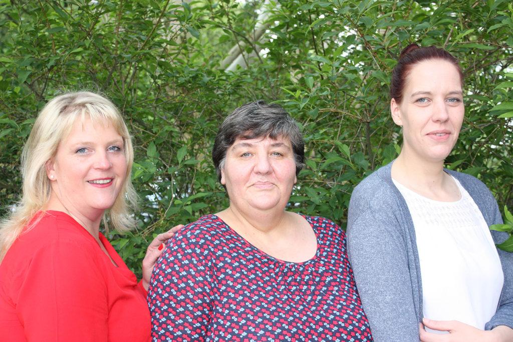 Unsere Wohnbereichsleitungen (v.l.): Cornelia Meyer, Irina Parykin, Nicole Walter